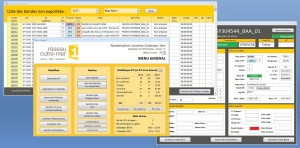 Screenshots from the Vectracom worflow manager designed for the specific needs of the INA Overseas project